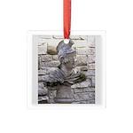Roman Centurion Square Glass Ornament