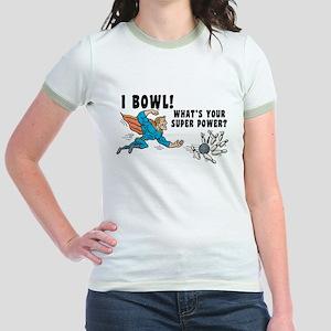 Funny I Bowl Jr. Ringer T-Shirt