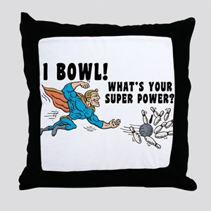 Funny I Bowl Throw Pillow