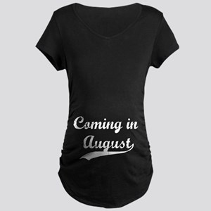 Coming in August Maternity Dark T-Shirt