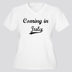 Coming in July Women's Plus Size V-Neck T-Shirt