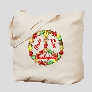 Thanksgiving Peace Sign Tote Bag