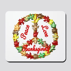 Thanksgiving Peace Sign Mousepad