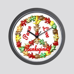 Thanksgiving Peace Sign Wall Clock