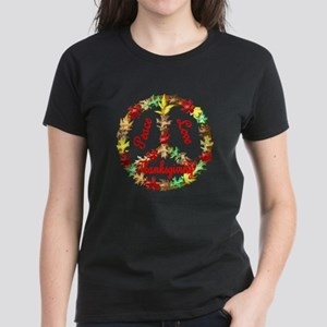 Thanksgiving Peace Sign Women's Dark T-Shirt