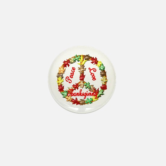 Thanksgiving Peace Sign Mini Button (100 pack)