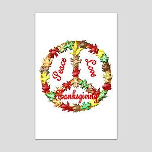 Thanksgiving Peace Sign Mini Poster Print