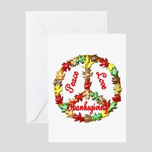 Thanksgiving Peace Sign Greeting Card