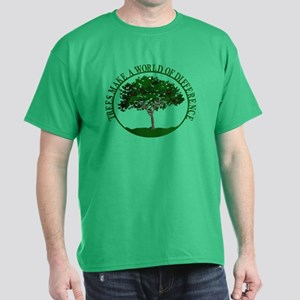 Trees Make a World of Differe Dark T-Shirt
