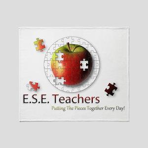 ESE Teachers (Autism) Throw Blanket