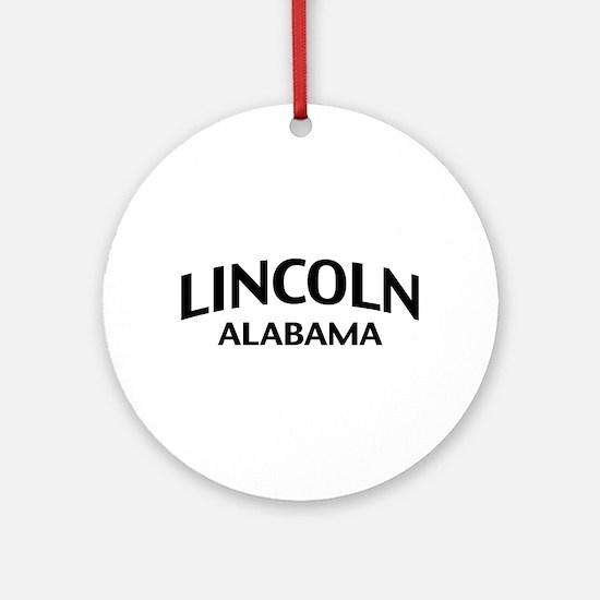 Lincoln Alabama Ornament (Round)