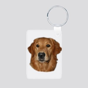 Golden Retriever Aluminum Photo Keychain