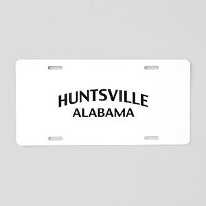 Huntsville Alabama Aluminum License Plate