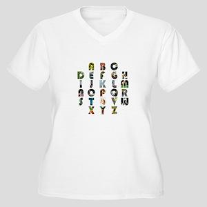 ABC Women's Plus Size V-Neck T-Shirt