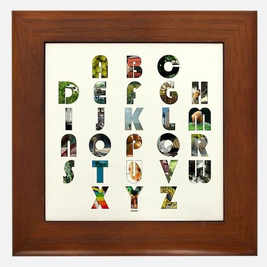 ABC Framed Tile