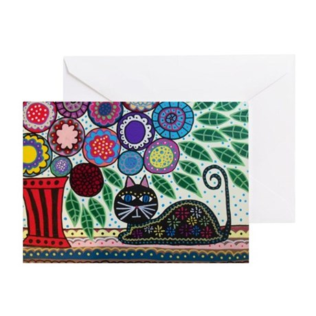 House Cat and House Plant Greeting Cards