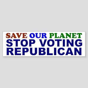 SAVE OUR PLANET Bumper Sticker