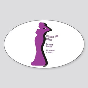 Cultivate Your Curves Sticker (Oval)