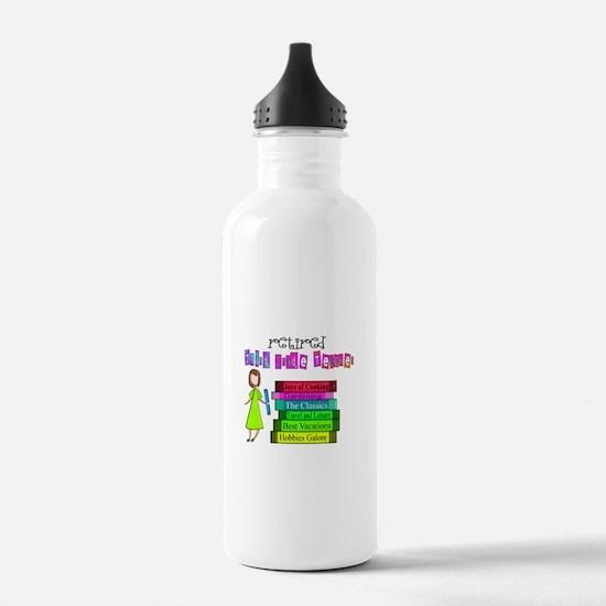 Retired Teacher IV Water Bottle