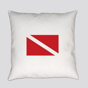 Diver Down Flag Everyday Pillow