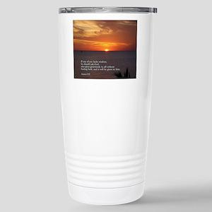 James 1:5 Stainless Steel Travel Mug