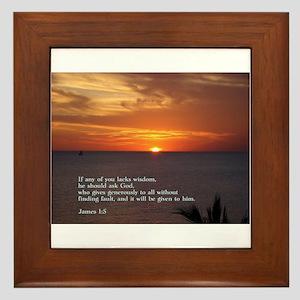 James 1:5 Framed Tile
