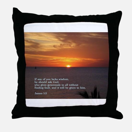 James 1:5 Throw Pillow