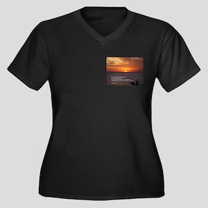 James 1:5 Women's Plus Size V-Neck Dark T-Shirt