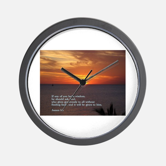 James 1:5 Wall Clock