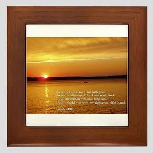 Isaiah 41:10 Framed Tile