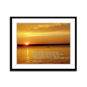 Isaiah 41:10 Framed Panel Print