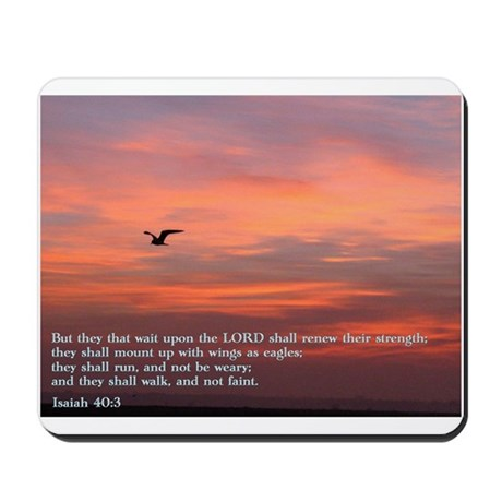 Isaiah 40:3 Mousepad