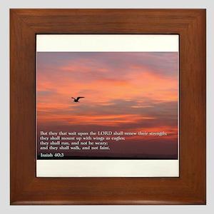 Isaiah 40:3 Framed Tile