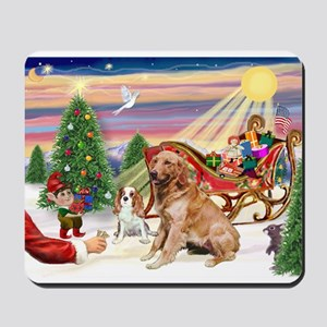 Santa's Golden Treat Mousepad