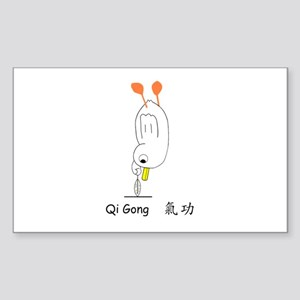 Qi Gong Sticker (Rectangle)