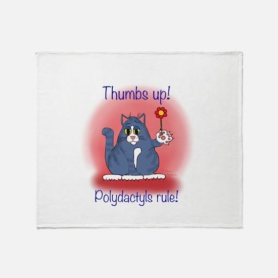 Polydactyls Rule Throw Blanket