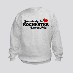 Somebody In Rochester Loves Me Kids Sweatshirt