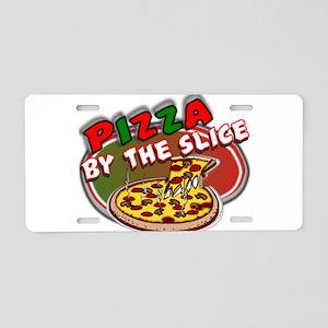 allergo_pizza Aluminum License Plate
