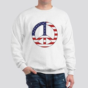 Peace Sign (American Flag) Sweatshirt