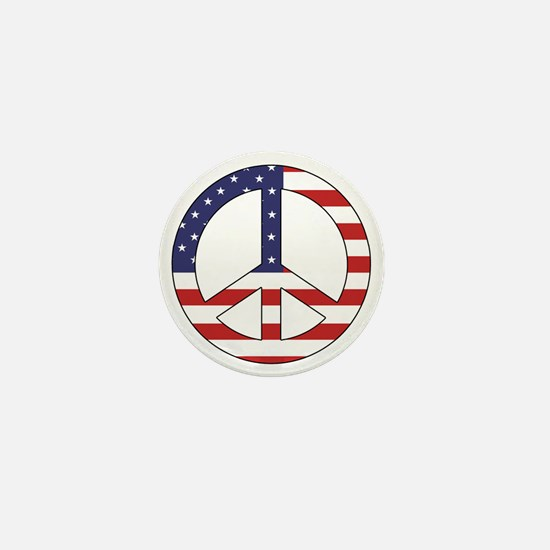 Peace Sign (American Flag) Mini Button