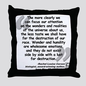 Carson Wonder Quote Throw Pillow
