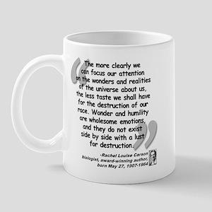Carson Wonder Quote Mug