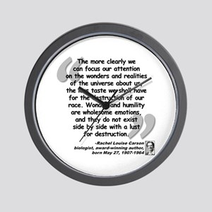 Carson Wonder Quote Wall Clock