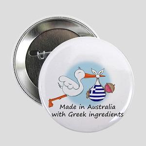 "Stork Baby Greece Australia 2.25"" Button"