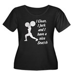 Nice Snatch Women's Plus Size Scoop Neck Dark T-Sh