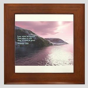 Romans 12:9 Framed Tile