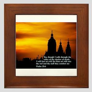 Psalm 23:4 Framed Tile