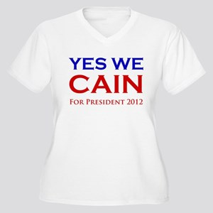 Yes We Cain Women's Plus Size V-Neck T-Shirt