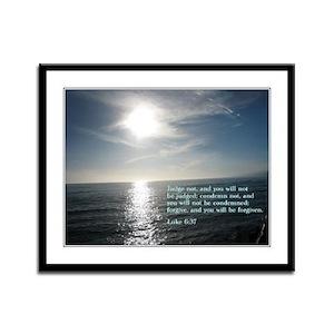 Luke 6:37 Framed Panel Print