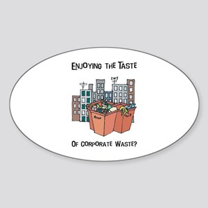 Corporate Waste Oval Sticker